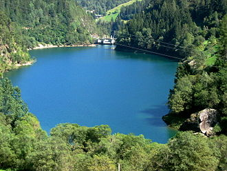 Ulten Valley - Reservoir Sankt Pankraz in the Ulten Valley