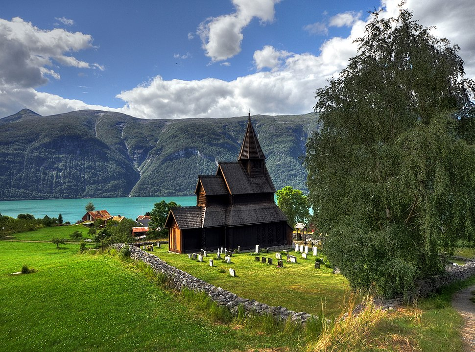 Stave church Urnes - Panorama HDR cropped