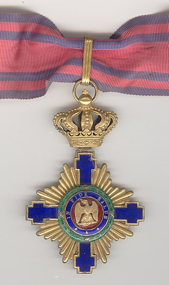 Order of the Star of Romania - The original 1877 model - Commodore rank (obverse)