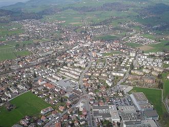 Steffisburg - Aerial view of Steffisburg