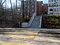 Steps to westbound lanes at Brandon Hall station, April 2016.JPG