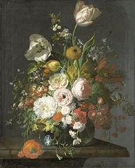 Nature morte avec fleurs dans un vase