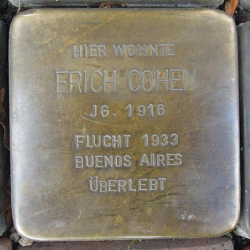 Stolperstein für Erich Cohen