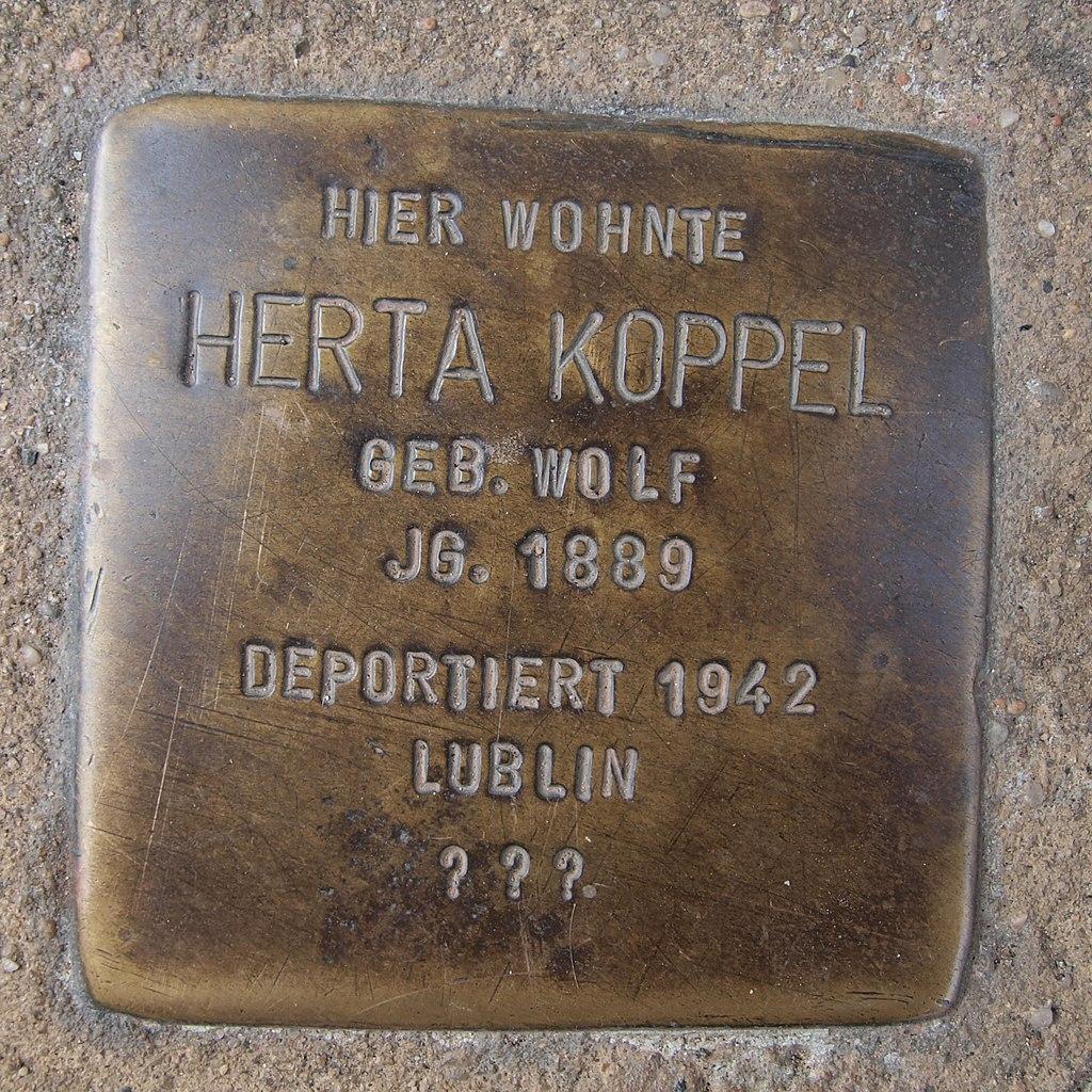 Stolperstein Bingen Rochusstraße 10 Herta Koppel.jpg