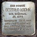 Stolperstein Duisburger Str 19 (Wilmd) Gertrud Krohn.jpg