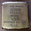 Stolperstein Johanna Messer, Ausstellungsstück, ELDE-Haus Köln.jpg