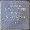 Stumbling block for Max Jungleib (Fleischmengergasse 24)
