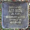 Stolperstein Markgrafenstr 22 (Frohn) Leo Grün.jpg