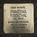 Stolperstein Neuhaußstraße 3 Franziska Rosenthal.jpg