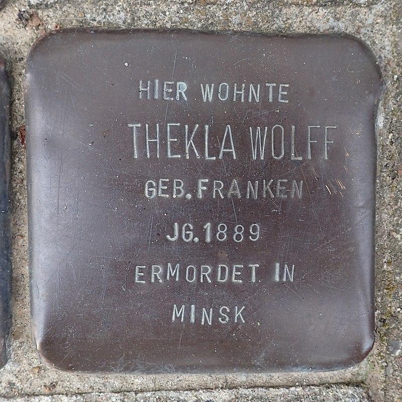 Stolperstein Westerhafenstraße 14 Thekla Wolff.jpg