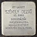 Stolperstein für Dezsö Szekely (Nyíregyháza).jpg