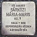 Stolperstein für Maria-Maris Sarközi (Pecs).jpg