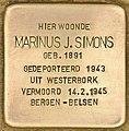 Stolperstein für Marinus J. Simons (Den Haag).jpg