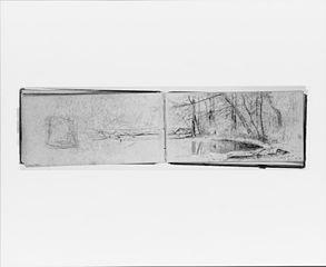 Stony Clove, June 26, 1870; Landscape Composition (from Sketchbook)