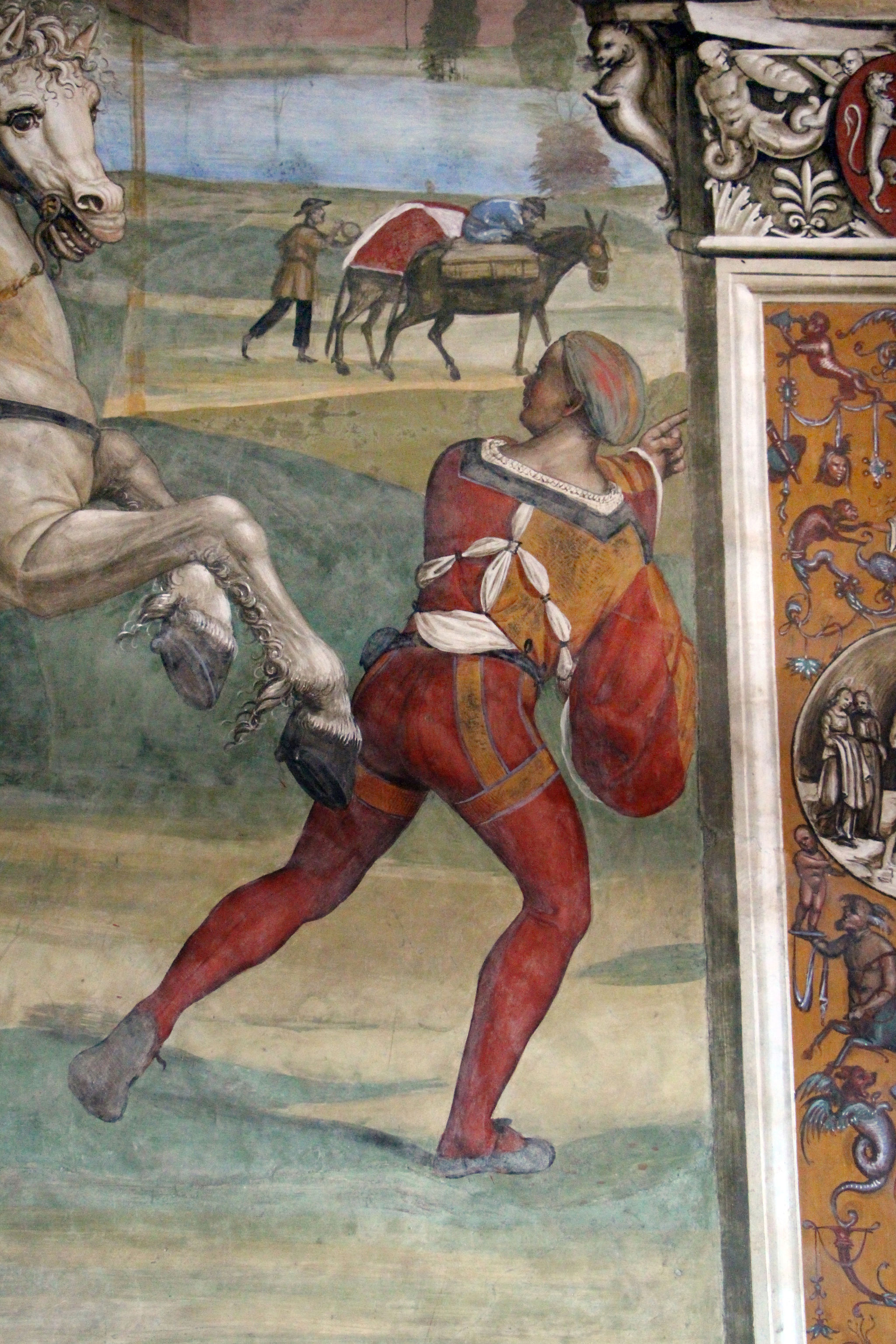 Il Sodoma, Life of St Benedict, Scene 1 - Benedict Leaves His Parent's House