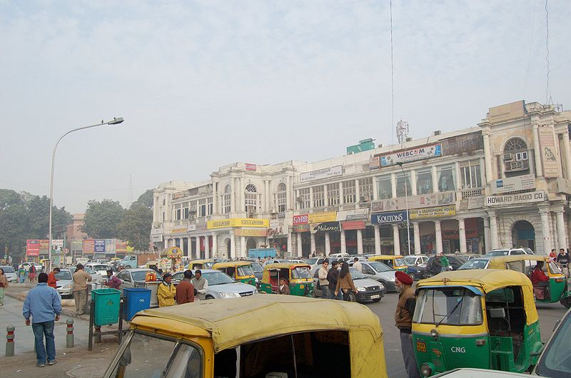 File:Street delhi connaught place.jpg