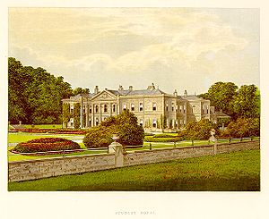 Studley Royal Park - Studley Royal House in 1880.