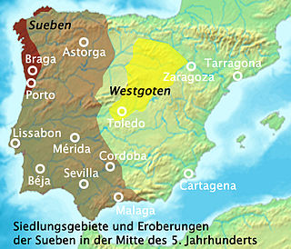 Germanic kingdom in what is today Galicia, Spain, that was established by the Suebi about 410, and existed until 585