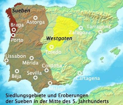 Lokasi Kerajaan Suebi