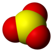 Space-filling model of sulfur trioxide