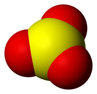 Sulfur trioxide - Image: Sulfur trioxide 3D vd W