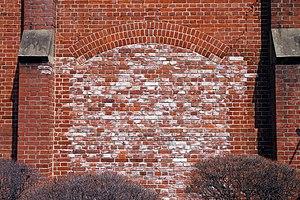 イギリス積みの煉瓦の壁(アルチザンスクエア)