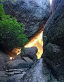Sunlit gap - Pinnacles NP California.jpg