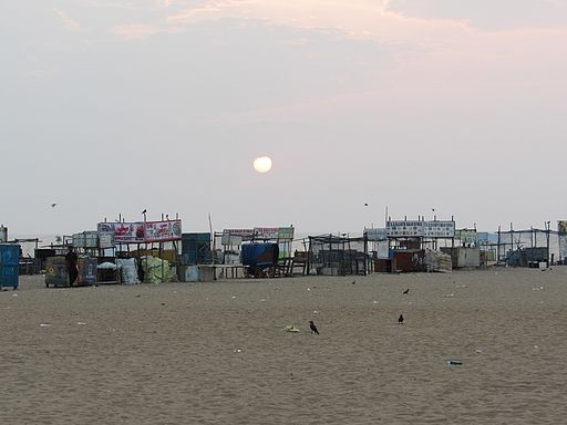 Sunrise-besant-nagar-beach-chennai-india-1