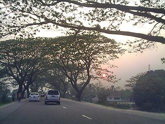 N1 (Bangladesh) - Image: Sunset at Elliotganj