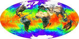 Exemplo de Mapeamento da temperatura da superfície da Terra