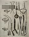 Surgical instruments. Engraving by Andrew Bell. Wellcome V0016378.jpg