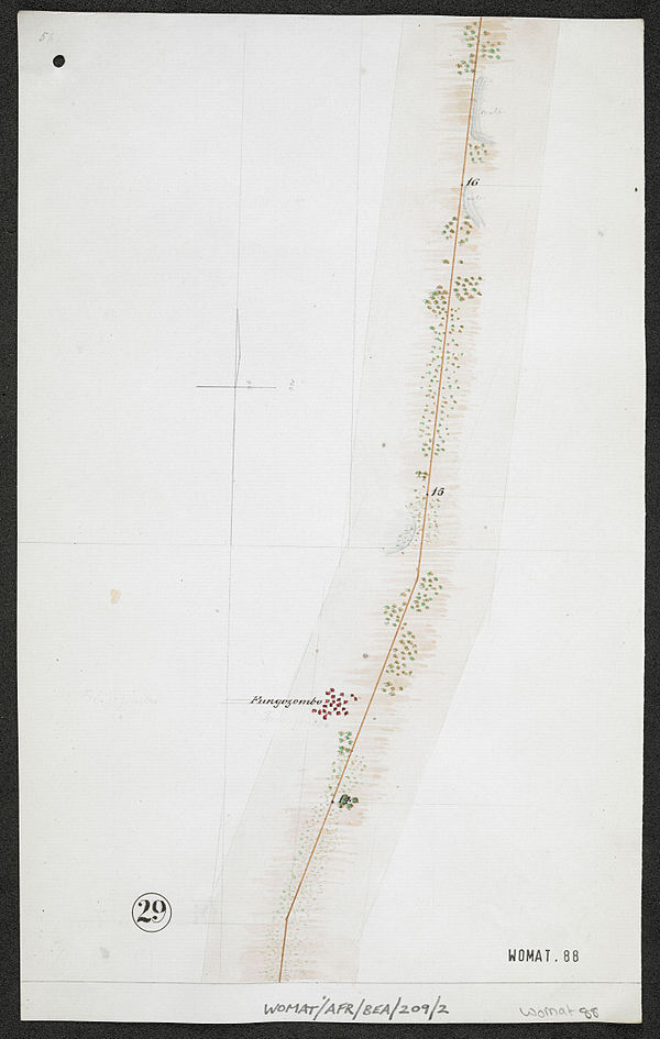 600px survey of telegraph line from melinde to lamu east africa. %28womat afr bea 209 2 29%29
