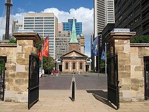 Queen's Square, Sydney - Image: Sydney St James gobeirne