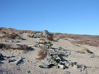 Kangerlussuaq Airport - Wreckage of a fighter