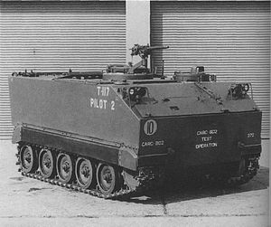 M113 armored personnel carrier - FMC T117 proposal
