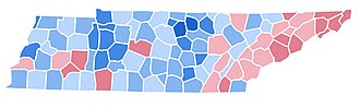 United States presidential election in Tennessee, 1992 - Image: TN1992