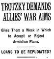 TROTZKY DEMANDS ALLIES' WAR AIMS (NY Times, 9 December 1917).png