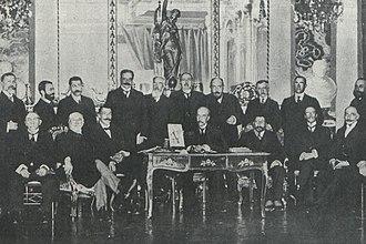 Juan Vázquez de Mella - among Carlist executives, 1913