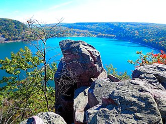 Driftless Area - Tablet Rock Overlook in Wisconsin's Devils Lake State Park, located in the Baraboo Range