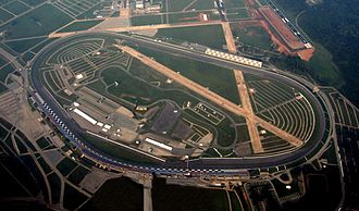 Tri-oval - Aerial view of the Talladega Superspeedway tri-oval.
