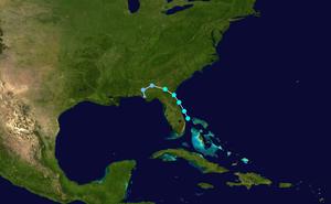 Tropical Storm Tammy - Image: Tammy 2005 track