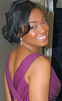 Tatyana Ali in Zuhair Murad and Swarovski Inauguration Night 2.JPG