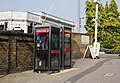 Telephone Boxes outside Maidstone West Station - geograph.org.uk - 1506711.jpg