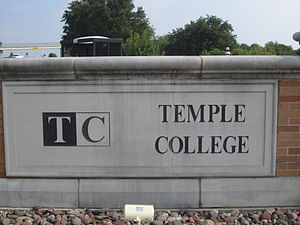Temple College - Image: Temple College, Temple, TX sign IMG 0672