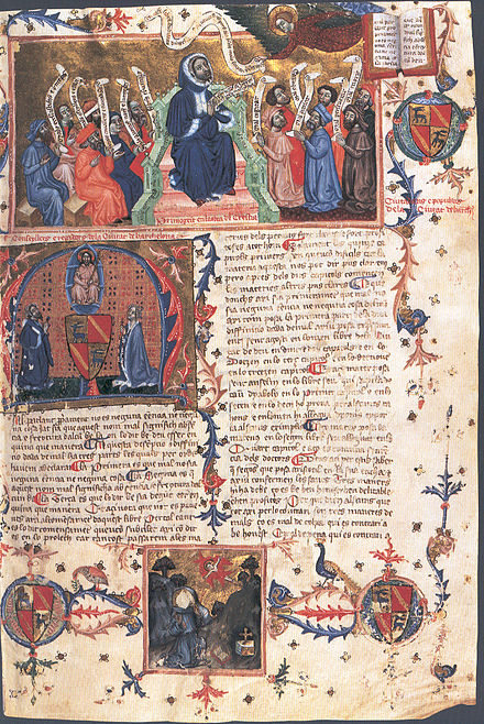 Beginning of the Terç del Crestià in the manuscript 1792 from the National Library of Madrid. This manuscript has the chapters 1-523 from this book (which has 1060 chapters in total).
