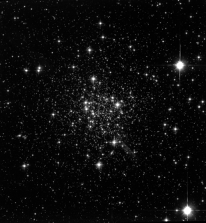 Picture of the globular cluster Tenzan 7 of the Sagittarius Dwarf Elliptical Galaxy centered on RA-19-17-43.04 and DEC-34-39-26.63 using the Hubble Space Telescope's Wide Field and Planetary Camera 2.  FITS data processed using Adobe Photoshop FITS Liberator plugin with log(x) compression.