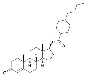 Testosterone buciclate - Image: Testosteronebuciclat e structure