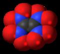 Tetranitroethene molecule spacefill.png