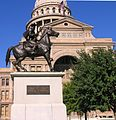Texas Ranger monument in front of Texas State Capitol.JPG