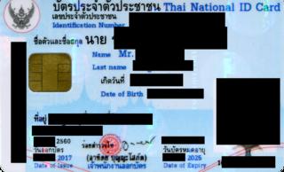 Thai identity card